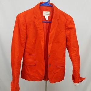 J.crew School Boy Red Blazer sz 0